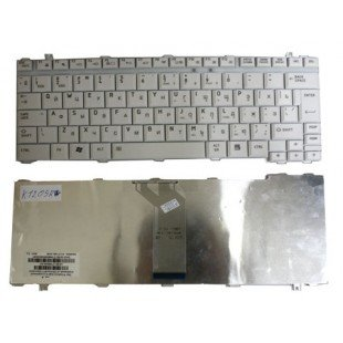 Клавиатура для ноутбука Toshiba Satellite A10, А15, А20, А25, А30, А35, А40, А45, А45, А50, А55, А60, А65, А70, А75, А80, 1400, 1900, 2400, М30, М35х, М40 (RU) белая