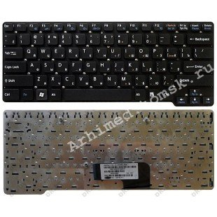 Клавиатура для ноутбука Sony Vaio VGN-CW (RU) черная, без рамки