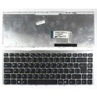 Клавиатура для ноутбука Sony Vaio VGN-FW (RU) черная, серебряная рамка