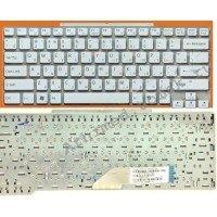 Клавиатура для ноутбука Sony Vaio VGN-SR (RU) белая, без рамки