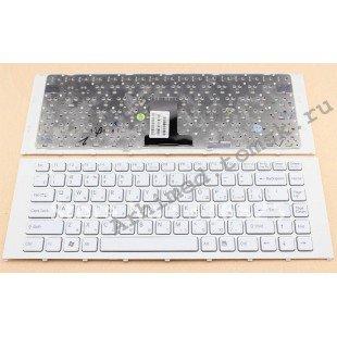 Клавиатура для ноутбука Sony Vaio VPC-EA (RU) белая, белая рамка