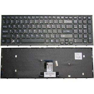 Клавиатура для ноутбука Sony Vaio VPC-EB черная (черная рамка) [10104]