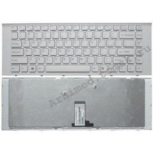 Клавиатура для ноутбука Sony Vaio VPC-EG (RU) белая, белая рамка [10140]