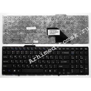 Клавиатура для ноутбука Sony Vaio VPC-F11 VPC-F12 VPC-F13 (RU) черная, без рамки