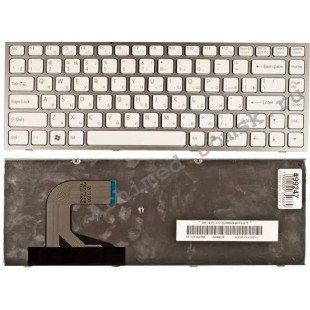 Клавиатура для ноутбука Sony Vaio VPC-S (RU) белая, белая рамка