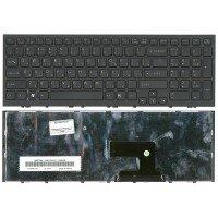 Клавиатура для ноутбука Sony Vaio VPC-EH (RU) черная, черная рамка [10047]