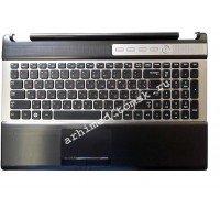 Клавиатура (топ-панель) для ноутбука Samsung RF510, RF511, RF530 (RU) черная [10062]