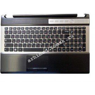 Клавиатура (топ-панель) для ноутбука Samsung RF510, RF511, RF530 (RU) черная