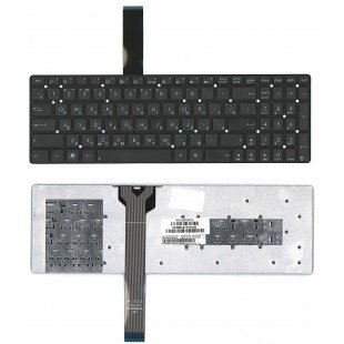 Клавиатура для ноутбука Asus K55 A55D K75VD (RU) черная, small Enter, без рамки [10063]