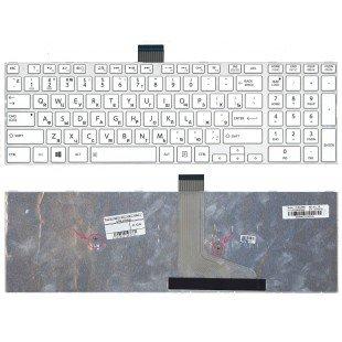 Клавиатура для ноутбука Toshiba l50d-a l70-a s50-a s50d-a s70d-a (RU) белая
