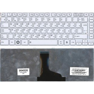 Клавиатура для ноутбука Toshiba Satellite L800 L830 (10086) (RU) белая