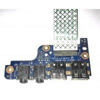 *Б/У* USB + Audio плата для ноутбука DNS QAT11, 0161263 (LS-8561P) [BUR0060-3], с разбора