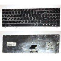 *Б/У* Клавиатура для ноутбука Lenovo Y570 (RU) черная, с серой рамкой (25-011731) [BUR0061-3], с разбора