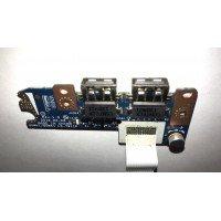 *Б/У* USB плата для ноутбука Acer Aspire E1-571, E1-571G (LS-7911P) [BUR0062-3], с разбора