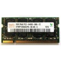 *Б/У* Оперативная память SODIMM 2Gb (800MHz) DDR2 Hynix HYMP125S64CP8-S6 2R*8 PC2-6400S-666-12 [BUR0001-30], с разбора
