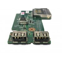 *Б/У* Плата 2x USB + 2x Audio + CR для ноутбука DNS 0135730 (35G304010-10) [BUR0104-6], с разбора