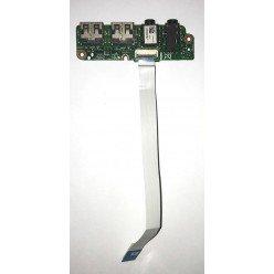*Б/У* Плата с разъемом USB + 2*Audio для ноутбука DNS 0156456, B34Y (B34Y-IO Board) [BUR0075-8], с разбора