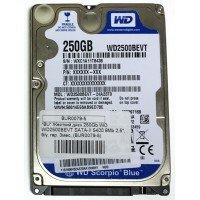 "*Б/У* Жесткий диск 2,5"" 250Gb WD WD2500BEVT SATA-II 5400rpm, с разбора [BUR0079-5]"