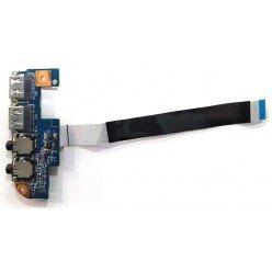 *Б/У* Плата расширения 2xUSB + 2xAudio для ноутбука Packard Bell MS2303 (48.4GW02.031) [BUR0087-11], с разбора