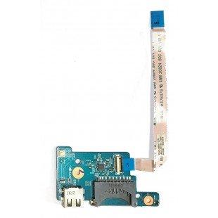 Плата с USB и картридером для ноутбука Acer Aspire ES1-571 (448.09005.0011, 450.03701.1001), с разбора