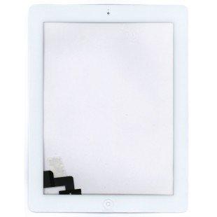 Сенсорное стекло (тачскрин) iPad 2 белое с кнопкой