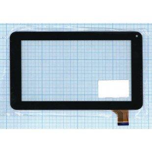Сенсорное стекло (тачскрин) Digma iDj7n;  DEXP Ursus Z170 Kid's; Supra M741 M742 черный (30 pin)