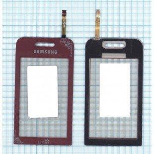 Сенсорное стекло (тачскрин) Samsung Star GT-S5230 красный