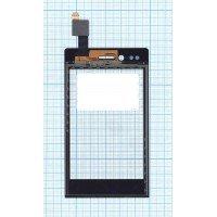 Сенсорное стекло (тачскрин) Sony Xperia miro ST23i черное