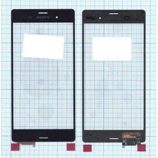 Сенсорное стекло (тачскрин) Sony Xperia Z3 черное
