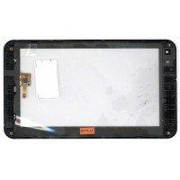 Сенсорное стекло (тачскрин) ZTE V9 черное с рамкой