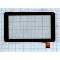 Сенсорное стекло (тачскрин) FM700405KD черное [T00107-2]