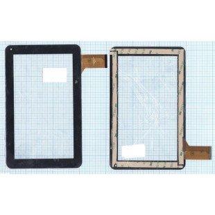 Сенсорное стекло (тачскрин) CZY6439A01-FPC черное