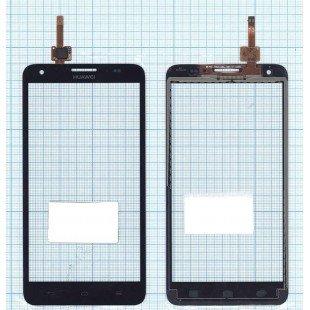 Сенсорное стекло (тачскрин) Huawei Honor 3X (G750) черное