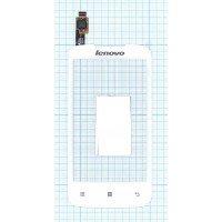 Сенсорное стекло (тачскрин) Lenovo A376 белое