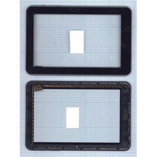 Сенсорное стекло (тачскрин) Prestigio Multipad PMT5587 черное с рамкой