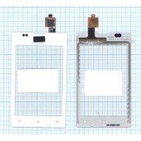 Сенсорное стекло (тачскрин) Sony Xperia E / E Dual C1505/C1605 белое