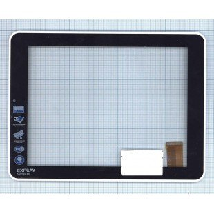 Сенсорное стекло (тачскрин) Explay Surfer 8.01 черное с рамкой