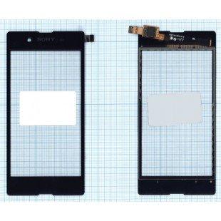Сенсорное стекло (тачскрин) Sony Xperia E3 черное