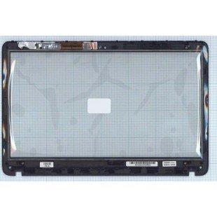Сенсорное стекло (тачскрин) Sony Vaio SVF152 SVF153 черное с рамкой