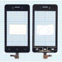 Сенсорное стекло (тачскрин) Micromax A107 Canvas Fire 3 черный