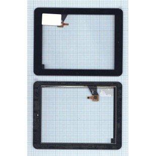 Сенсорное стекло (тачскрин) Explay M2 3G / Explay D8.2 3G (080209-01A-V1) черное с рамкой
