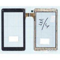 Сенсорное стекло (тачскрин) DX0067-070A FPC черное
