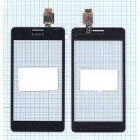 Сенсорное стекло (тачскрин) Sony Xperia E1 черное