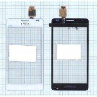 Сенсорное стекло (тачскрин) Sony Xperia E1 белое