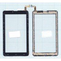 Сенсорное стекло (тачскрин) для Мегафон Логин 4 (HK70DR2671-V02) черное [T0147]