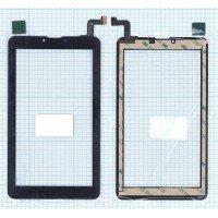 Сенсорное стекло (тачскрин) для планшета Digma Plane 7.4 4G, Hit 4G HT7074ML (FPC-FC70S786-00) черное [T00124]
