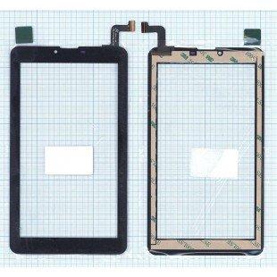 Сенсорное стекло (тачскрин) для планшета Digma Hit 4G HT7074ML (FPC-FC70S786-00) черное [T00124]