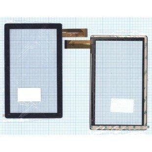 Сенсорное стекло (тачскрин) CZY6075A-FPC (173*105 mm) черное