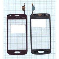 Сенсорное стекло (тачскрин) Samsung Galaxy Ace 3 GT-S7270 красное