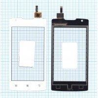 Сенсорное стекло (тачскрин) Lenovo A (A1000) белое